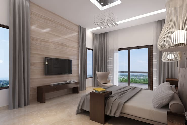Bungalow at Undri:  Bedroom by Space Craft Associates