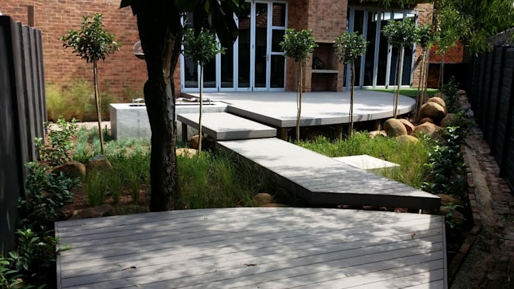 Lynnwood new outdoor space:  Patios by Gorgeous Gardens, Modern