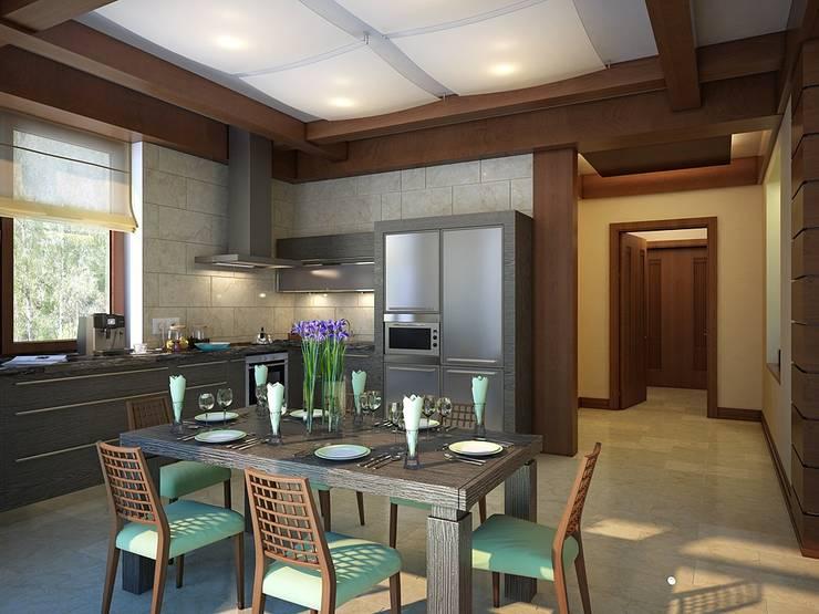 Kitchen by Design studio of Stanislav Orekhov. ARCHITECTURE / INTERIOR DESIGN / VISUALIZATION., Modern