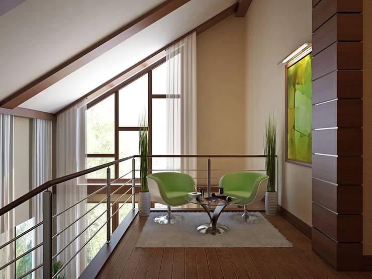 Modern Corridor, Hallway and Staircase by Design studio of Stanislav Orekhov. ARCHITECTURE / INTERIOR DESIGN / VISUALIZATION. Modern