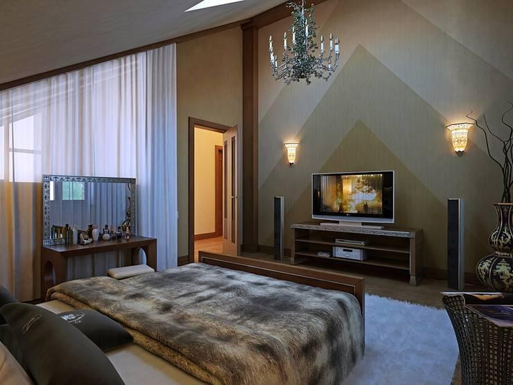 Modern style bedroom by Design studio of Stanislav Orekhov. ARCHITECTURE / INTERIOR DESIGN / VISUALIZATION. Modern