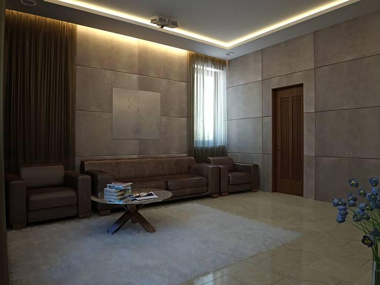 Living room by Design studio of Stanislav Orekhov. ARCHITECTURE / INTERIOR DESIGN / VISUALIZATION., Modern