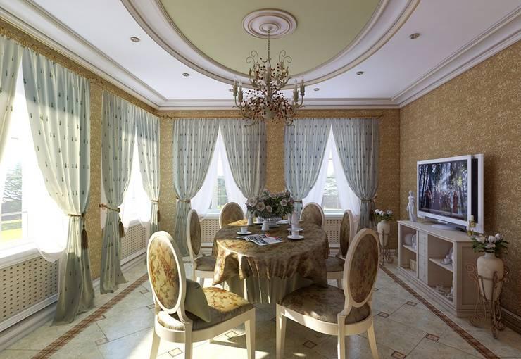 Dining room by Design studio of Stanislav Orekhov. ARCHITECTURE / INTERIOR DESIGN / VISUALIZATION., Classic