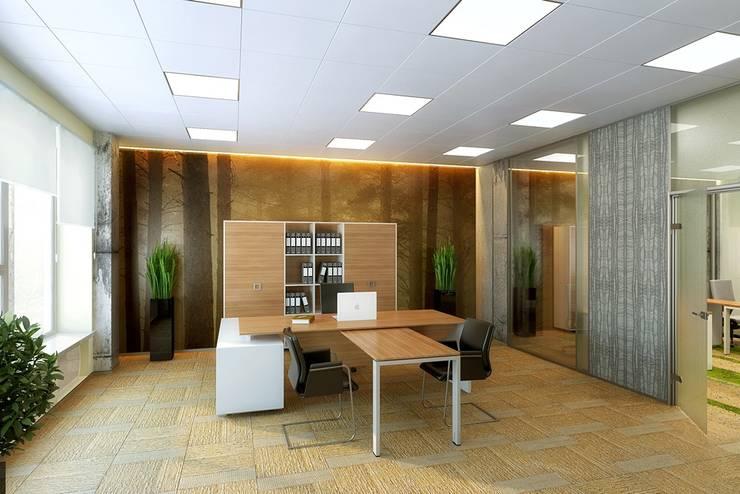 Office buildings by Design studio of Stanislav Orekhov. ARCHITECTURE / INTERIOR DESIGN / VISUALIZATION., Modern