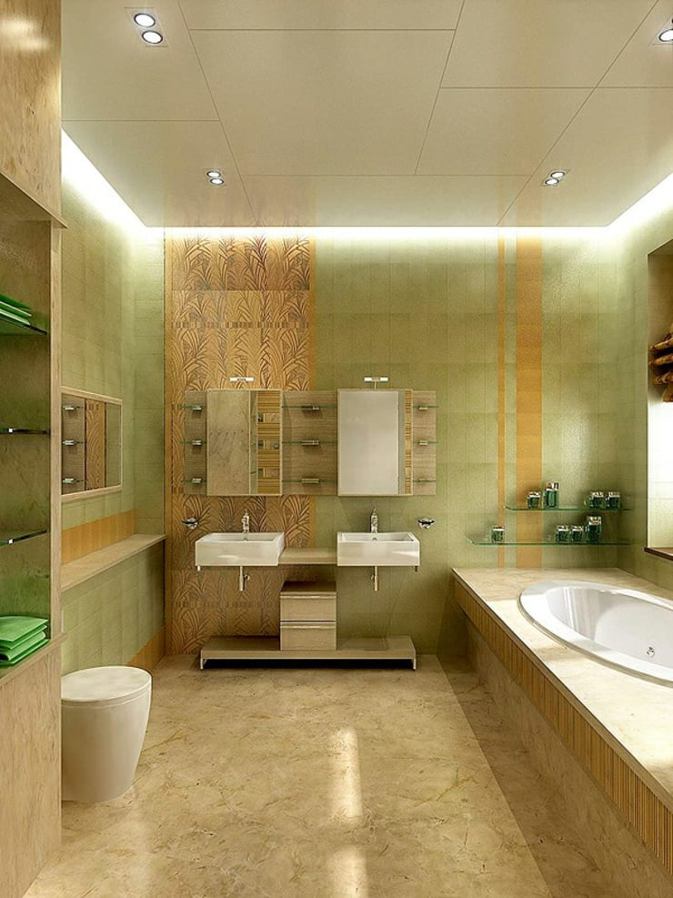 Bathroom by Design studio of Stanislav Orekhov. ARCHITECTURE / INTERIOR DESIGN / VISUALIZATION., Modern