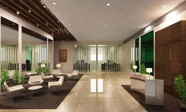 Interior Design Services:  Corridor & hallway by Saffron Touch - Interior Architecture Construction