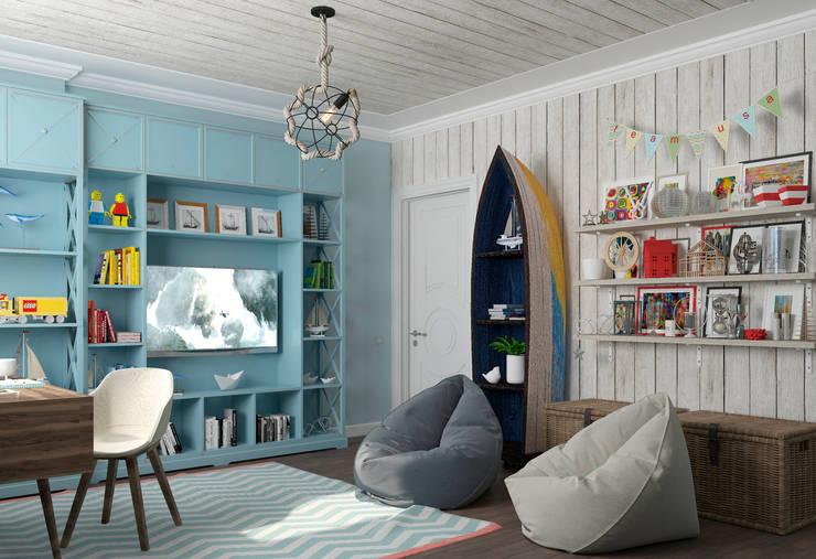 غرفة الاطفال تنفيذ Студия дизайна Дарьи Одарюк
