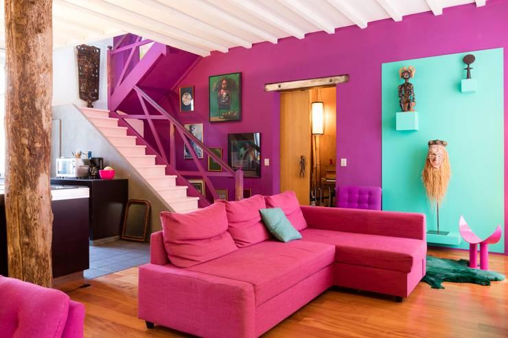 Livings de estilo  por Agence d'architecture intérieure Laurence Faure