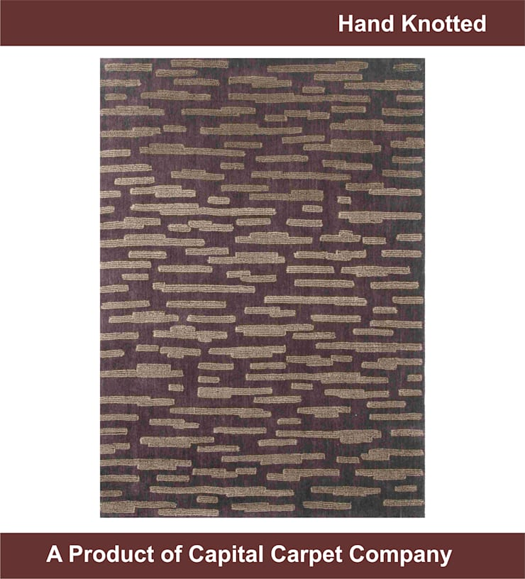 Hand Knotted Carpet: eclectic  by Capital Carpet Company,Eclectic Wool Orange
