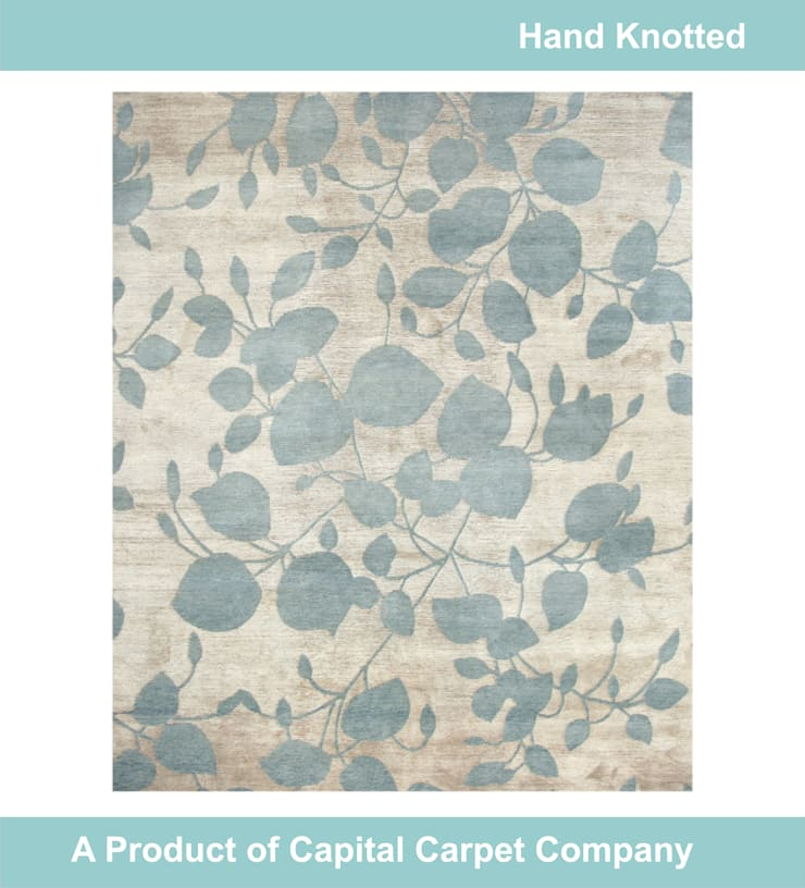 Hand Knotted Carpet: modern  by Capital Carpet Company,Modern Wool Orange
