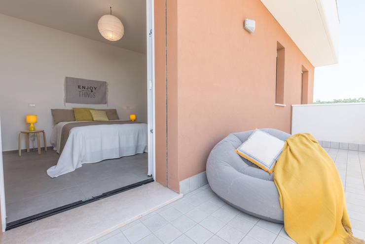 Balconies, verandas & terraces  تنفيذ Mirna.C Homestaging