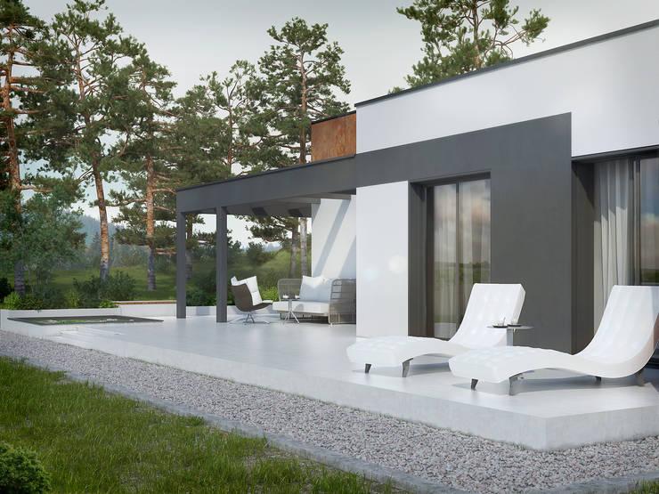 Casas de estilo  por Biuro Projektów MTM Styl - domywstylu.pl