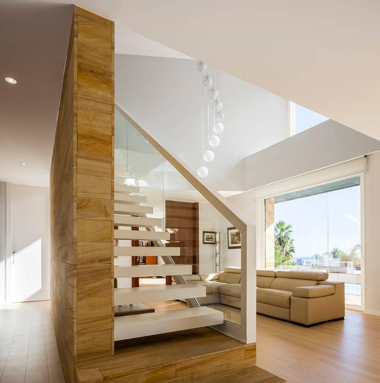 Stairs ห้องโถงทางเดินและบันไดสมัยใหม่ โดย 08023 Architects โมเดิร์น