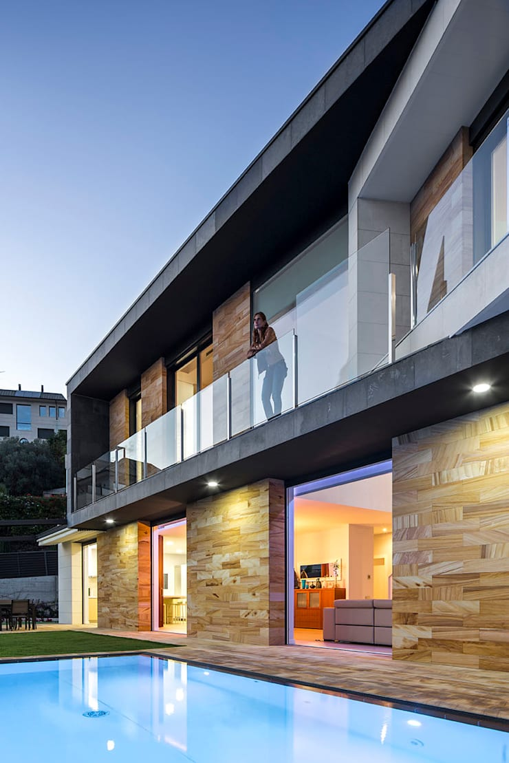 Terrace and Balcony โดย 08023 Architects โมเดิร์น