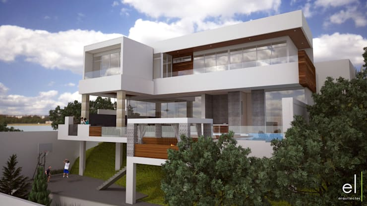 Casa Popotla: Casas de estilo  por ERIKA LIN