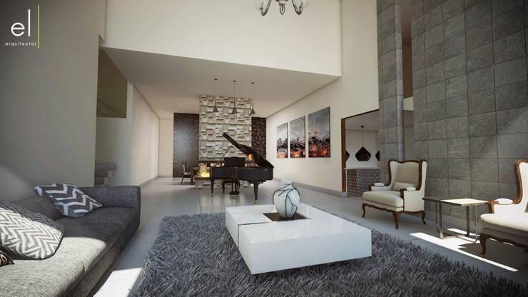 Casa Popotla: Salas de estilo  por ERIKA LIN