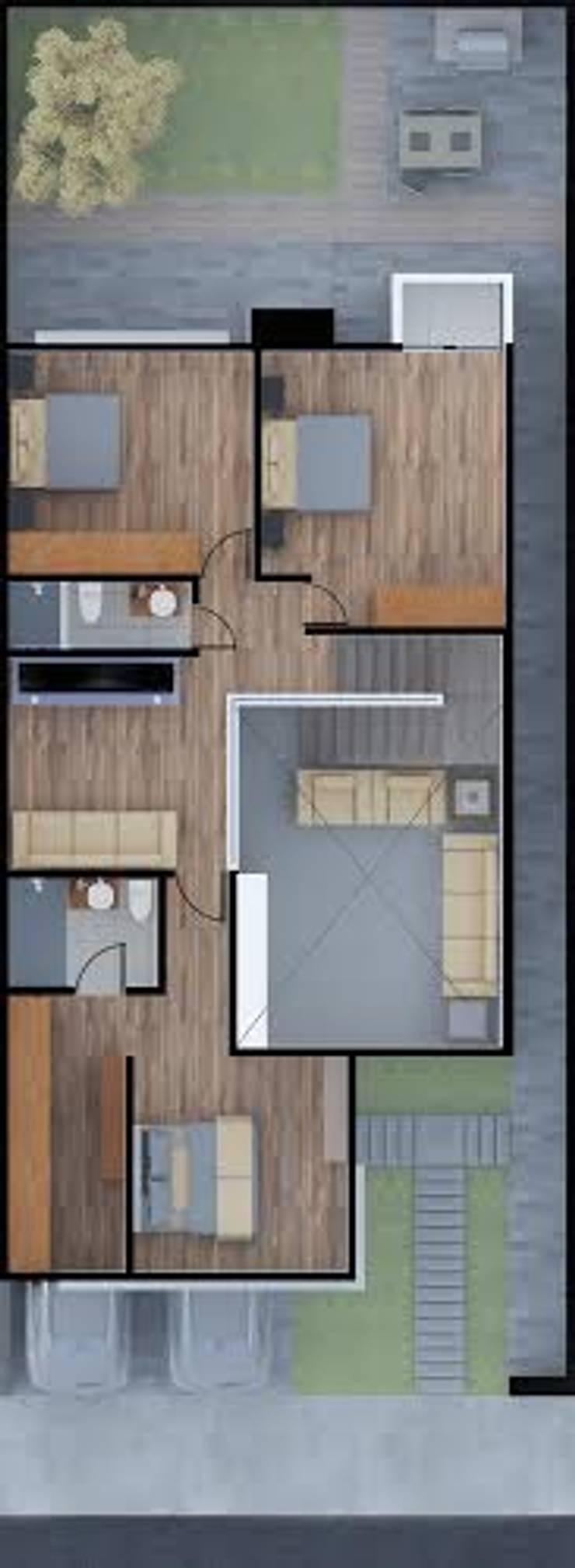Casa Zibata: Casas de estilo  por EL arquitectos