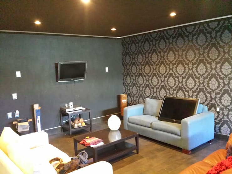 Casa PBE16: Salas de estilo  por Isóceles arquitectura