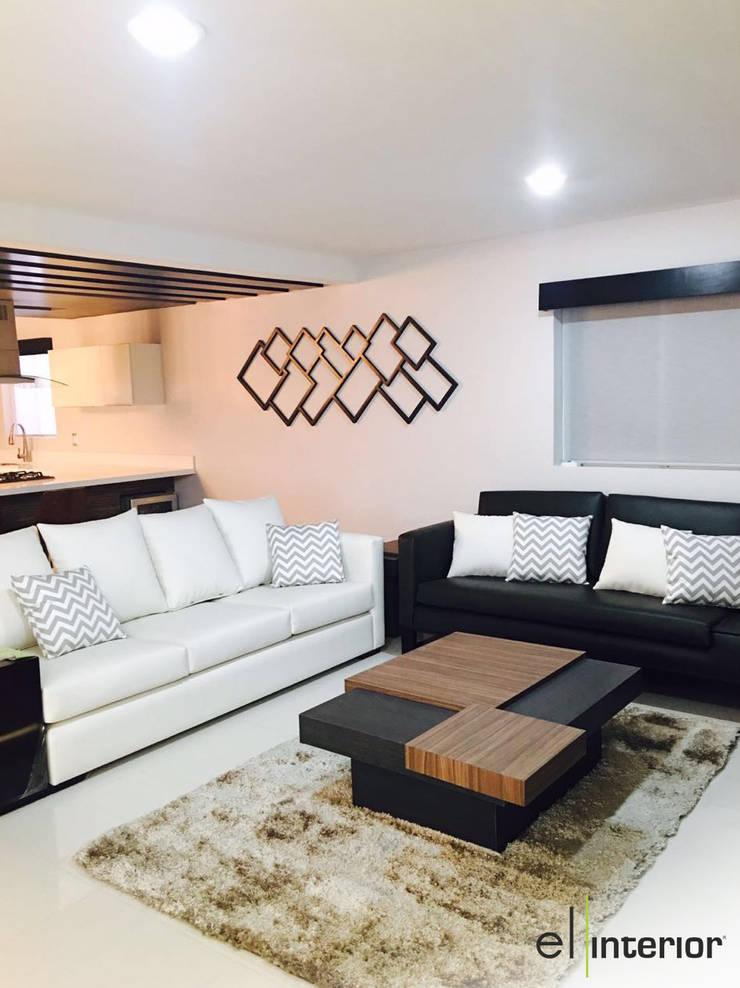 Casa Hacienda Del Mar: Salas de estilo  por el interior