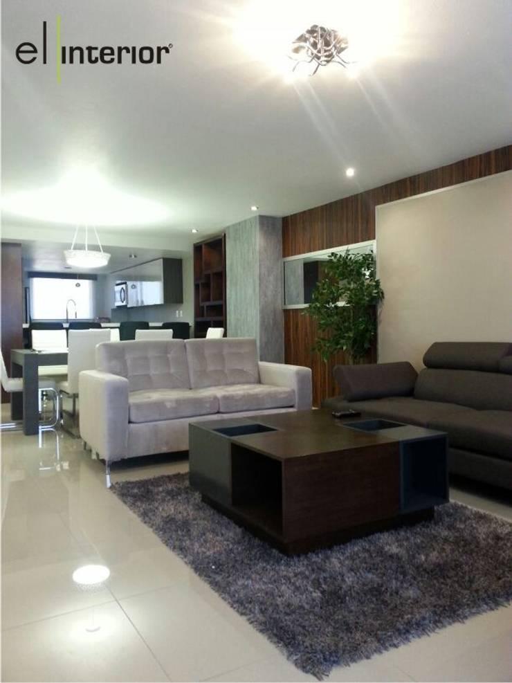 Departamento Quintas del Mar: Salas de estilo  por el interior