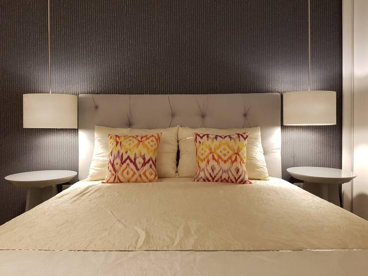 Quarto Suite Depois: Quartos  por Alma Braguesa Furniture