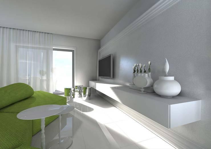 AF MORADIA: Sala de estar  por Tralhão Design Center