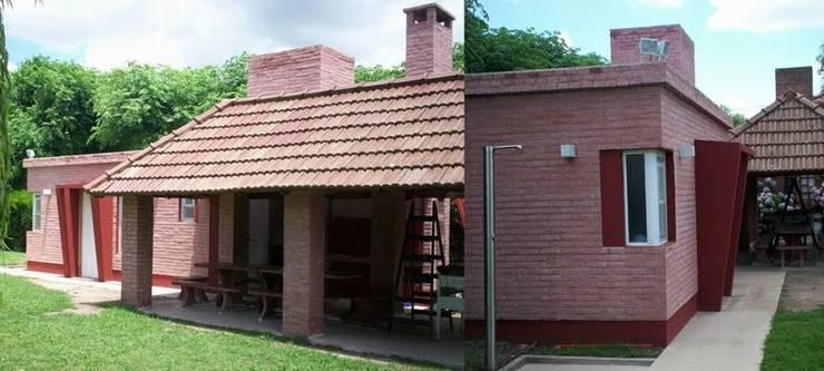 Refacción + Ampliación  QDA: Casas de estilo  por Patricio Galland Arquitectura