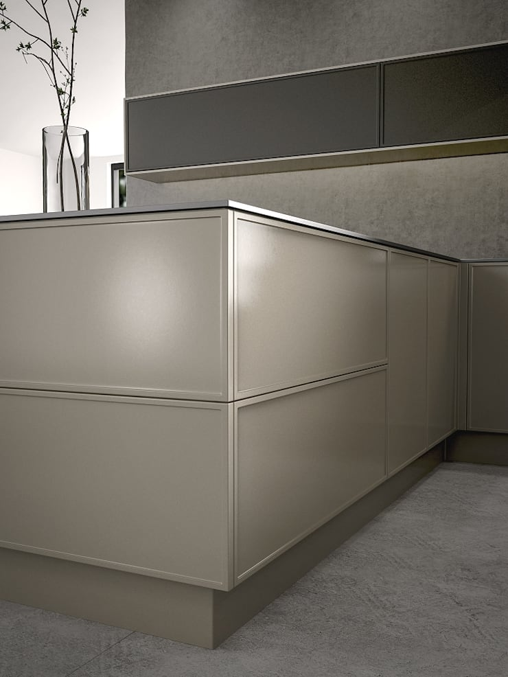 Alta Framed Fascias:  Kitchen by Deseo