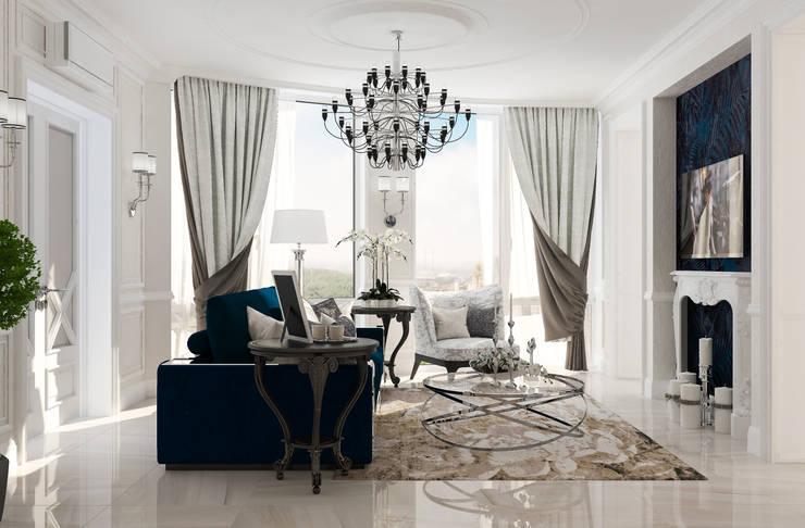 Salas / recibidores de estilo  por Студия дизайна Дарьи Одарюк