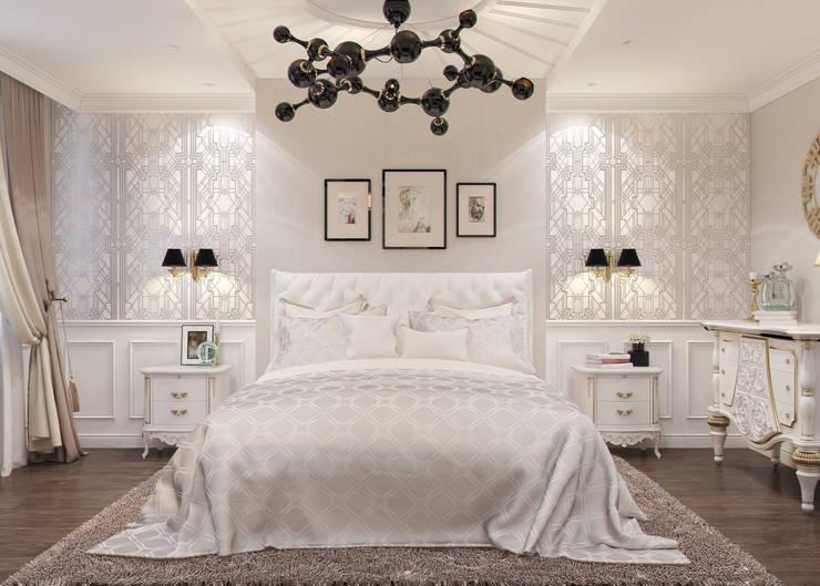غرفة نوم تنفيذ Студия дизайна Дарьи Одарюк