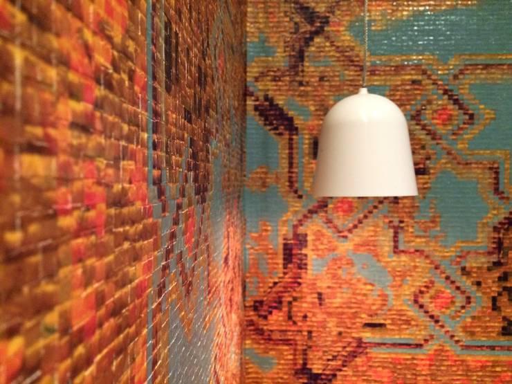 Apartamento Qvadra Sebucán: Baños de estilo moderno por VODO Arquitectos