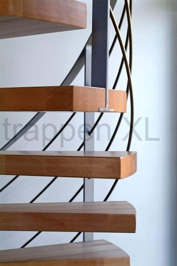 Een bijzonder trappenproject in Flevoland!:  Exhibitieruimten door TrappenXL, Modern IJzer / Staal