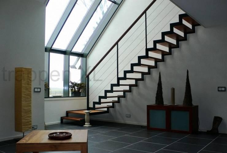 Oog voor design trappen in Limburg:  Exhibitieruimten door TrappenXL, Koloniaal IJzer / Staal