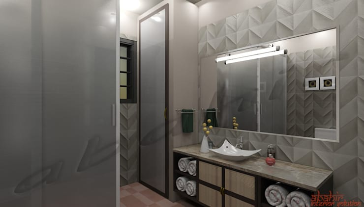 Residential Projects: classic Bathroom by Abahir Interiors