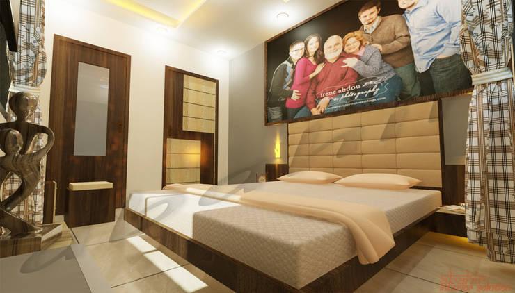 غرفة نوم تنفيذ Abahir Interiors