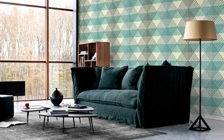 Geometric Diamonds :  Living room by Pixers