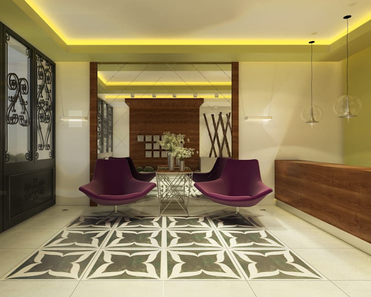Pasillos, vestíbulos y escaleras modernos de Ofis 352 Mimarlık Hizmetleri Moderno