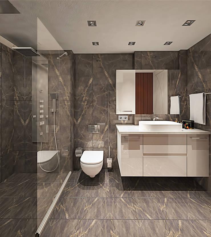 Ofis 352 Mimarlık Hizmetleri – ORHAN-OLIVIA EVİ:  tarz Banyo
