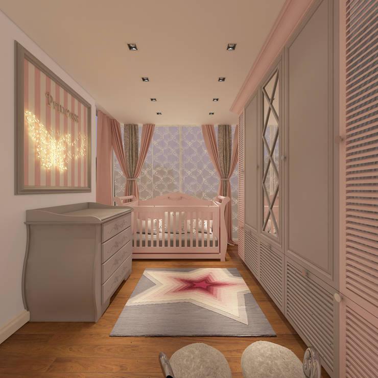 Ofis 352 Mimarlık Hizmetleri – ORHAN-OLIVIA EVİ:  tarz Çocuk Odası