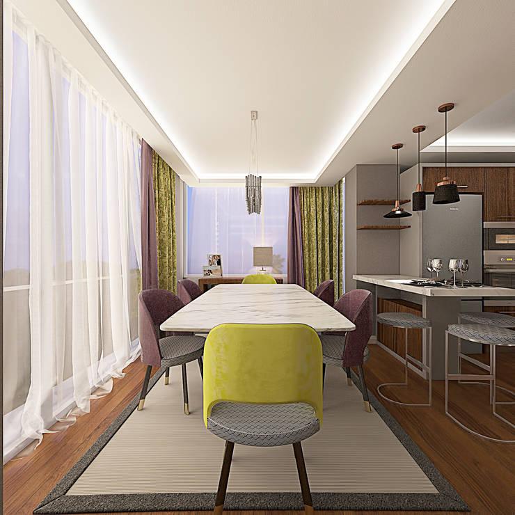 Ofis 352 Mimarlık Hizmetleri – ORHAN-OLIVIA EVİ:  tarz Yemek Odası