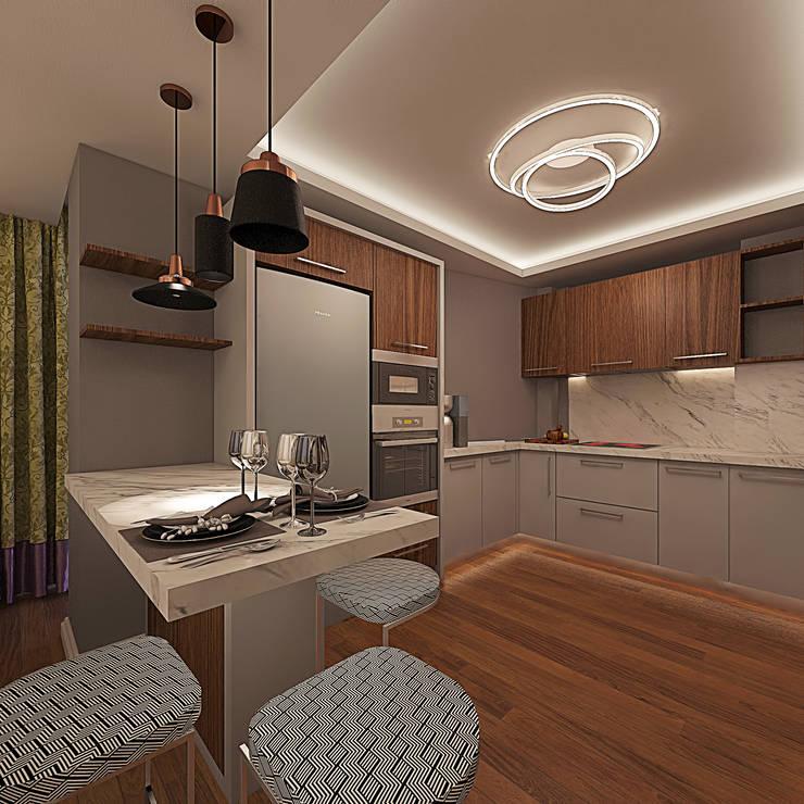 Ofis 352 Mimarlık Hizmetleri – ORHAN-OLIVIA EVİ:  tarz Mutfak