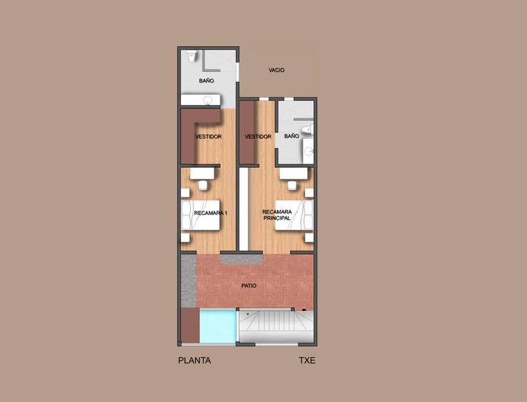 Planta de proyecto de ampliación: Casas de estilo  por ODRACIR