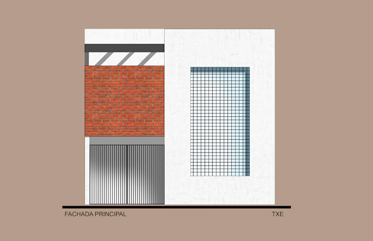 Fachada Principal: Casas de estilo  por ODRACIR