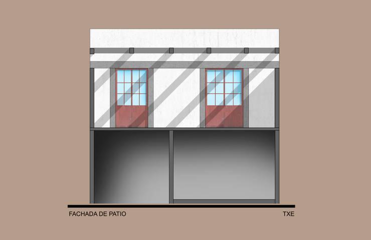 Fachada acceso a recamaras: Casas de estilo  por ODRACIR