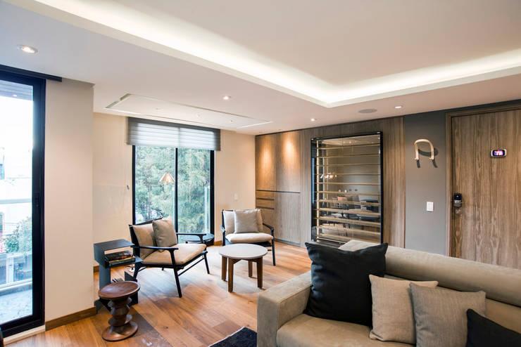 Living room by Sobrado + Ugalde Arquitectos