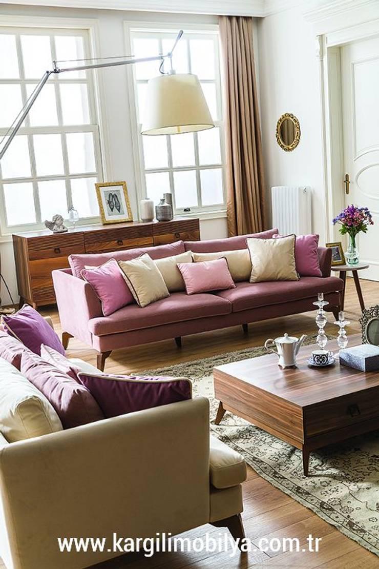 Kargılı Ev Mobilyaları – Almoda Modern Koltuk Takımı:  tarz Oturma Odası