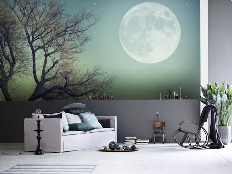 Full Moon: minimalistic Living room by Pixers