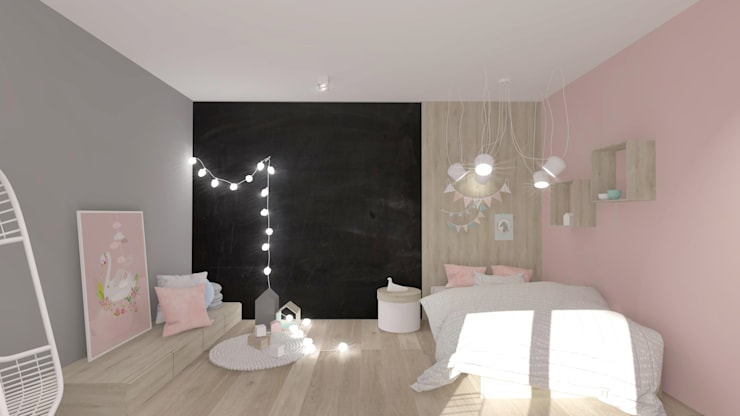 Nursery/kid's room by Interjo, Scandinavian Wood Wood effect