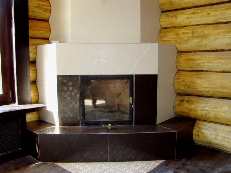 LAREIRA (SALA DE ESTAR): Sala de estar  por D O M | Architecture interior