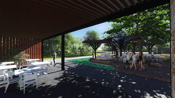 KU' TOH' CAFE Comedores modernos de MUTAR Arquitectura Moderno